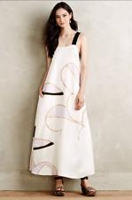 NEW Anthropologie Cynthia Rowley Silk Petaline Trapeze Maxi Dress Pockets $350 4