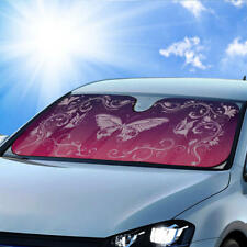 Purple Butterfly Car Auto Sun Shade - Windshield Sunshade Blocks UV Ray & Heat