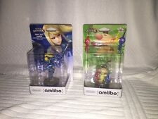 Nintendo Amiibo Zero Suit Samus & Olimar (US Versions) Factory Sealed