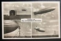 1937 Frankfurt Germany Hindenburg Zeppelin LZ129 Postcard cover to England