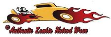DECAL - YELLOW COUPE - STICKER - HOT ROD - VINTAGE - SPEED SHOP - FLAMES