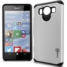 for Microsoft Lumia 950 Case - White / Black Slim Rugged Armor Phone Cover