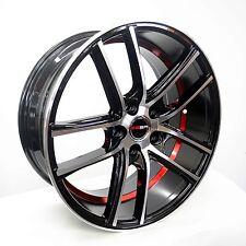 4 GWG Wheels 18 inch Black Red UnderCut Rims fits 5x114.3 ET40 LEXUS IS 250 AWD