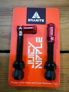 Granite Tubeless Presta Valve + Core Removal Tool cap. MTB Enduro Bikepacking.