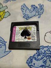 SEGA GAME GEAR Solitaire Fun Pak game cartridge