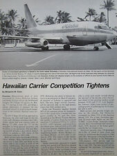 5/1980 ARTICLE 5 PAGES HAWAIIAN AIRLINES ALOHA HAWAI BOEING 737 757 DC-9-80