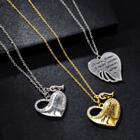 925 Silver White Topaz Heart Pendant Chain Choker Necklace Wedding Jewelry Gift