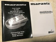 Marantz RC5400 RC9200 RC5200 User Guide Touch Screen Remote Manual