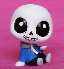 Littlest Pet Shop Undertale Sans ooak custom figure Hand painted LPS skeleton