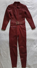 "Leatherotics Ledercatsuit Overall 26"" Gr.XS - Leder Rot Jumpsuit mit Gürtel"