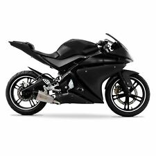 Yamaha YZF-R125 2014-2018 ABS Plastic Full Fairing Kit (21 panel) - Black/Black