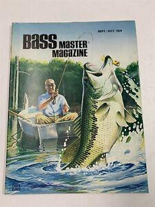 "Excellent Vintage 1974 September/October ""Bass Master"" Fishing Magazine 9A-1"