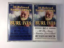 Burl Ives Gospel Cassette tapes Beloved Songs of Faith set 2 30 Hymns Christian