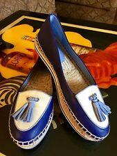 Coach Shoe Romy Blue And Off-White 9 1/2 B Slip On Espadrille