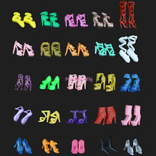 20Pcs=10 Pairs Party Daily Dress Outfits Clothes Shoes For Barbie Doll Accessory