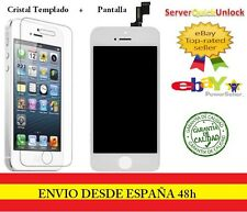 PANTALLA COMPLETA TACTIL LCD PARA IPHONE 5S BLANCO + PROTECTOR CRISTAL TEMPLADO