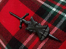 TC NEUF écossais St Andrew Broche KILT finition noire / PINS Montre