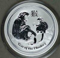 """2016 1/2 oz Silver .999 Lunar """"Year of The Monkey"""" BU Australian Perth Mint NICE"""
