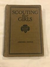 VINTAGE GIRL SCOUT Book - SCOUTING FOR GIRLS 1929 - THIRD ABRIDGED EDITION