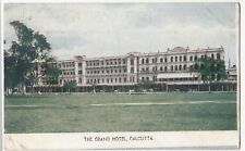 India; The Grand Hotel, Calcutta PPC 1910 PMK, to The Hon Roger North, Shanklin