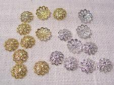 LOT (50 à 250) PERLES COUPELLES FILIGRANE ** 8,5 mm ** pour perle 12/18 mm - C06
