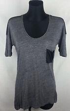 Zara Collection Gray Short Sleeve Women's Top Size:S