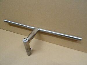 Rare Vintage Titanium Flat Handlebars + Fixed Ti Quill Stem 28.5mm / 555mm Width