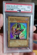 Yugioh Dark Magician LOB-005 1st Edition PSA 9 GEM MINT Extremely Rare Beautiful