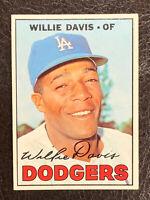 1967 Topps Willie Davis Card #160 NM-MT Nice Los Angeles Dodgers