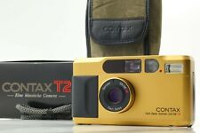 [Near Mint in BOX] CONTAX T2 Gold Point & Shoot Film Camera W/ Strap From JAPAN