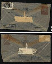Brazil   registered  see thru  envelope  used