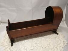 Antique Wooden Doll's Cot