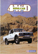 NISSAN DATSUN 4WD KING CAB PICK UP 1983-1984 ORIGINALE UK brochure di vendita No. E865