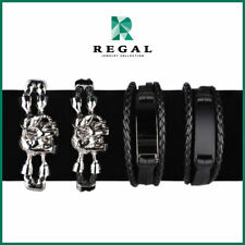 Kris Lawrence - 4-Pieces Bold Leather Bracelet - Regal Jewelry Collection