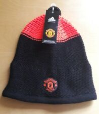 Manchester United Adidas Beanie Hat Black One Size Black Red Devils New BNWT