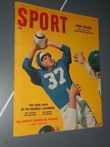 Jan 1956 Sport Magazine Doak Walker Cover Bill Russel VF-