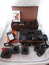Atari 2600 Huge Bundle 27 Games 5 Joysticks/Paddles Working Lot! CLEAN TESTED!