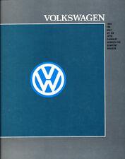 1988 Vw Volkswagen 12 Page Car Sales Brochure Quantum Vanagon Cabriolet Gti
