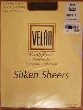 Sealed Velan Pantyhose European Collection Sheers 9900 Queen 3XL 4XL Black