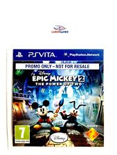 Epic Mickey 2 The Alimentation Of Two Promo Ps Vita Neuf Scellé Nouveau