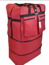 "30"" 40LB. CAP. RED EXPANDABLE / ROLLING /SPINNING /WHEELED BAG /LUGGAGE/SUITCASE"
