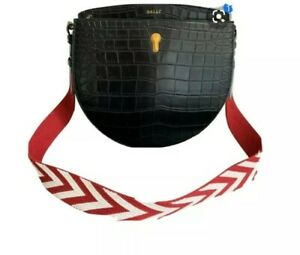 Bally strap only for handbag Red White Arrowed
