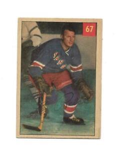 1954-55 Parkhurst:#67 Leo Reise,Rangers
