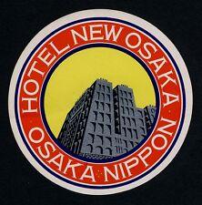 Hôtel New Osaka Osaka nippon Japon Asia * Old Luggage label valise Autocollant