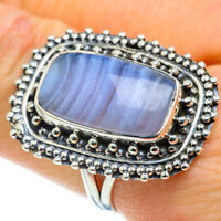 Blue Lace Agate 925 Sterling Silver Ring Size 9 Ana Co Jewelry R43510F