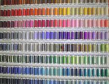 Mettler 200m mercerised Hilo de algodón Reel 30wt Bordado -60 Colores A Elegir