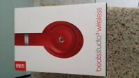 Beats by dr dre Studio3 Wireless Over Ear Headphones - Matte Red color.