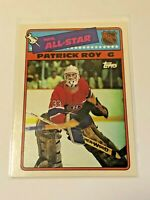 1988-89 Topps Hockey All-Star Sticker - Patrick Roy - Montreal Canadiens