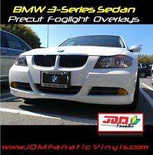 06-08 BMW E90 Yellow Fog Light Overlays Precut TINT Vinyl Film JDM EDM French 3