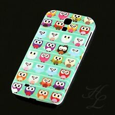 Samsung Galaxy S4 Hard Case Schutz Hülle Motiv Handy Schale Comic Eule Owl